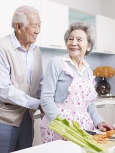 An elderly couple enjoying retirment
