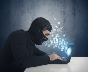 A thief on a computer