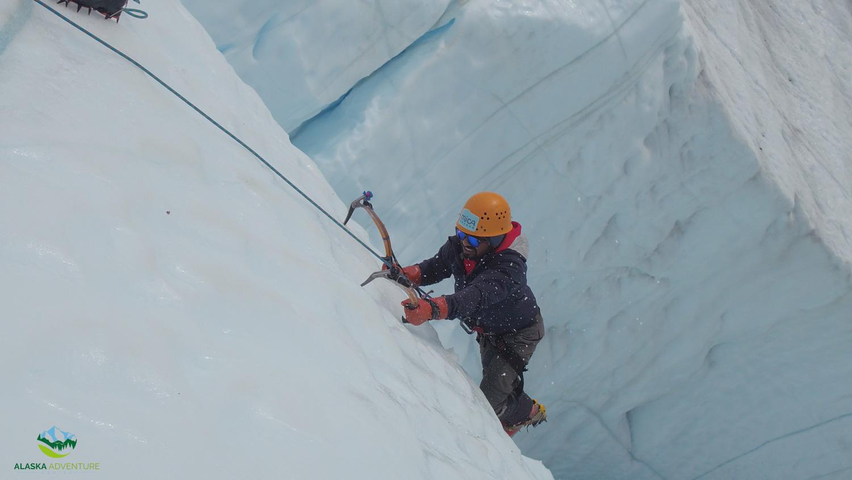 Climbing on Matanuska Glacier