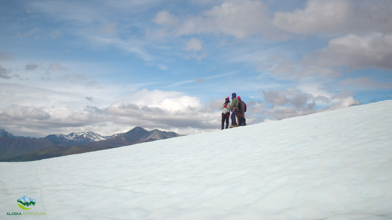 Hiking on Matanuska Glacier