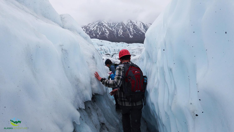 Trekking Matanuska Glacier