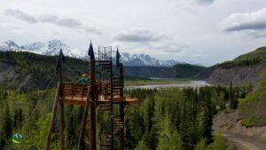 Alaska Zipline Tower