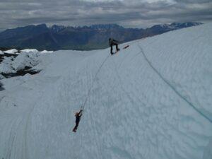 Glacier ice climbing