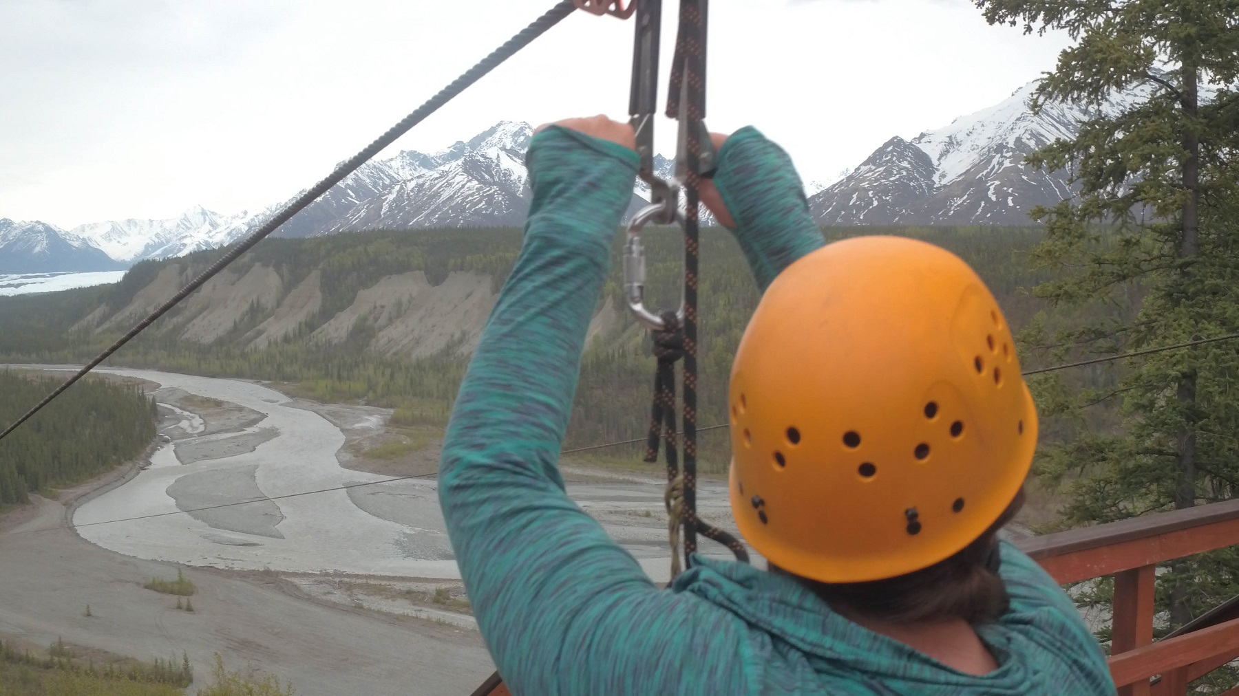 zipline mountains Alaska