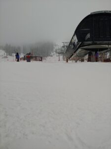 skiing chairlifts powder