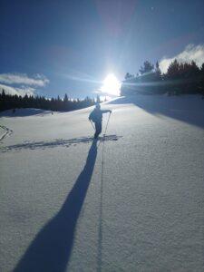 ski touring Alaska