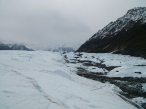 white ice and moraine