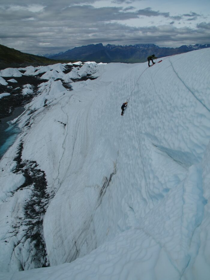 ropes ice climber ice mountains