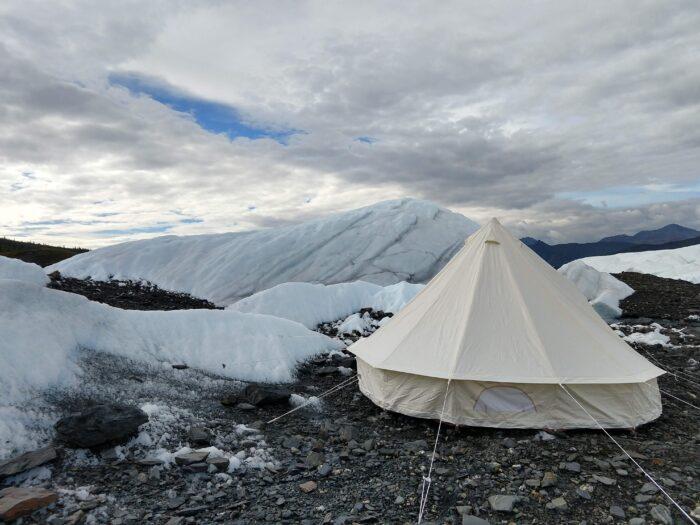 luxury glacier camping