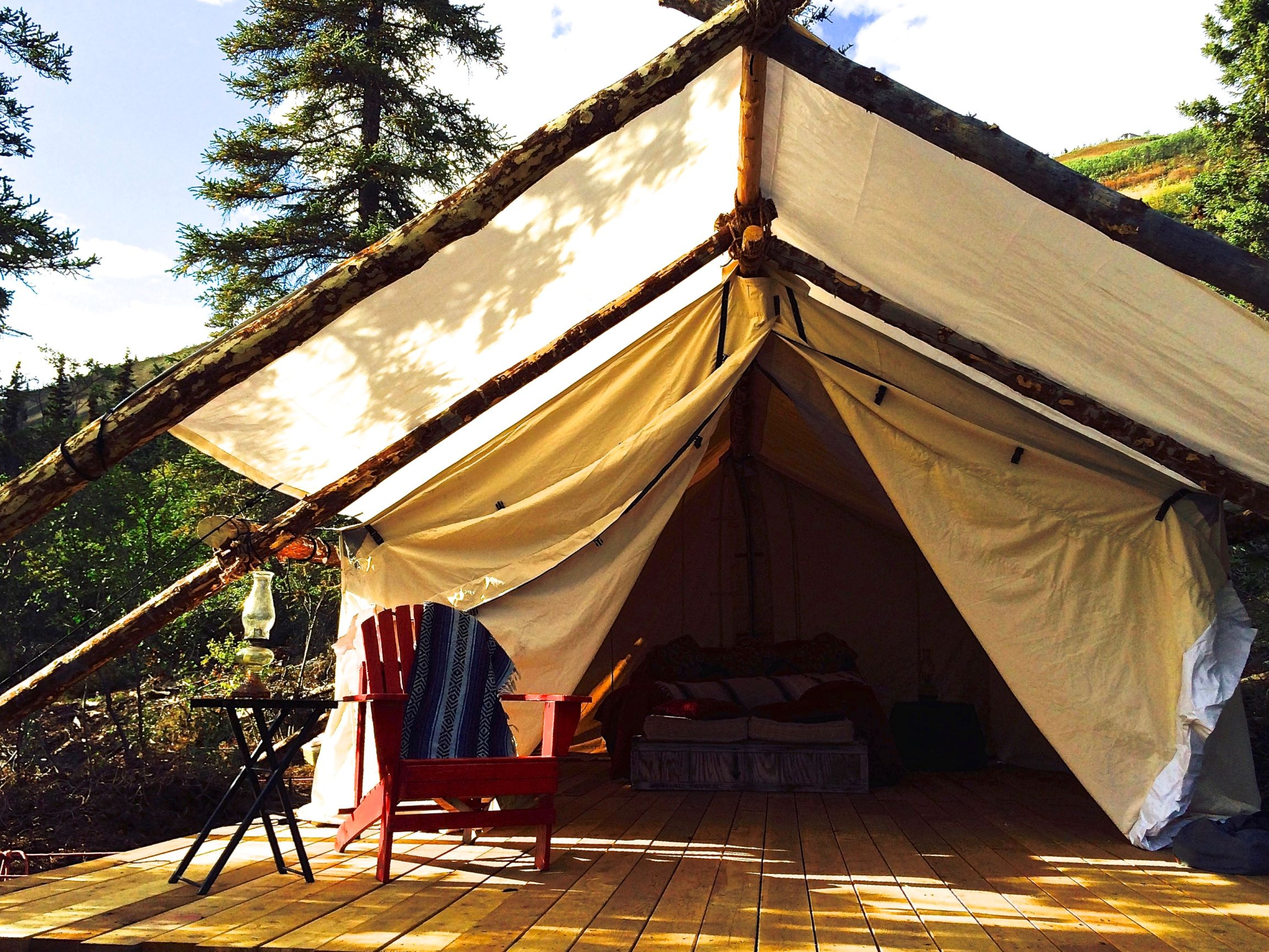 canvas tent glamping