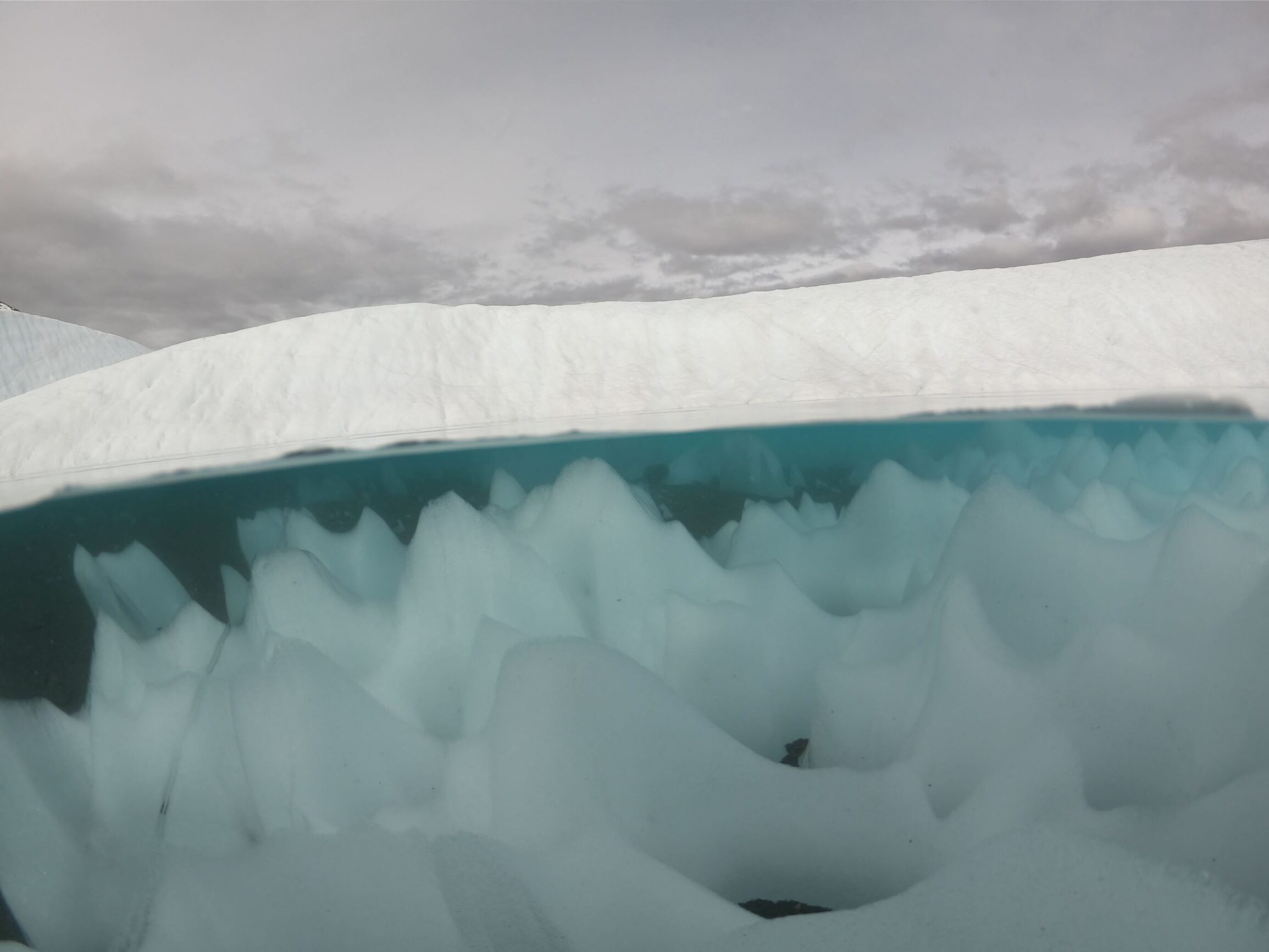 glacier ice and water