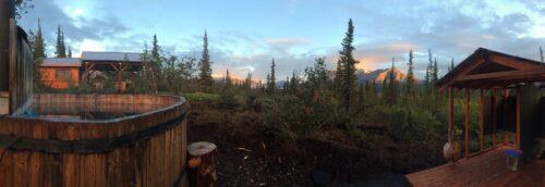 cedar hot tub Alaska mountains