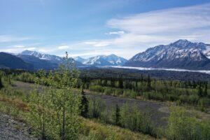 Alaskan snow covered mountains