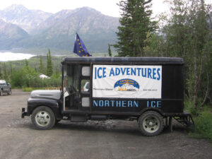 MICA Mocha truck with Alaska flag