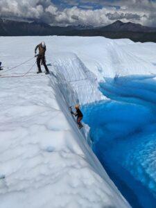 ice climbing the Matanuska