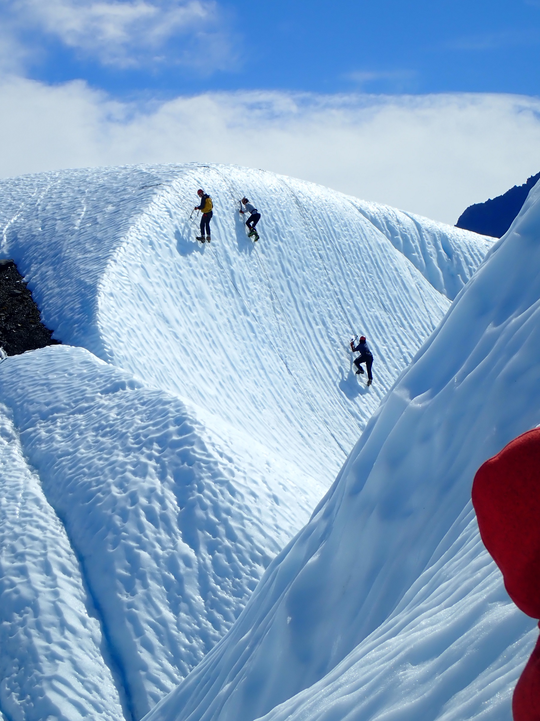 group ice climbing in Alaska
