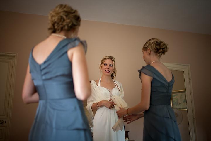 Kim wearing Country Lace Wedding Dress