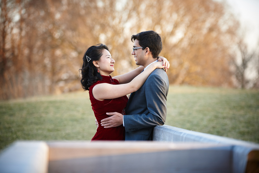 japan house arboretum engagement pictures urbana il