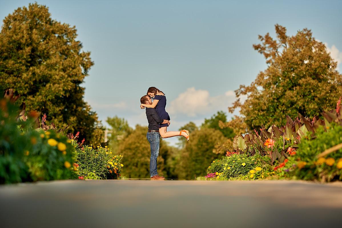 University of Illinois Japan House Arboretum wedding engagement photos