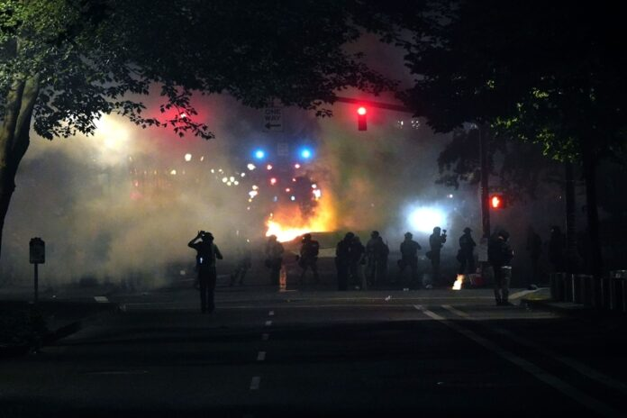 naked protesters, portland