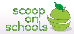 Scoop On Schools logo sliced apple