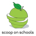 Scoop On Schools logo - sliced apple