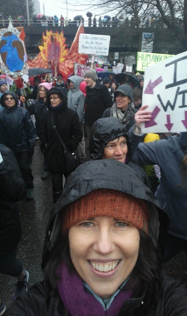 Photo of author, by author, at Women's March in Portland, Oregon 21 Jan 2017