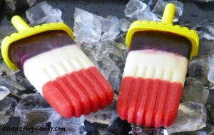Dye Free Red, White, & Blue Popsicles