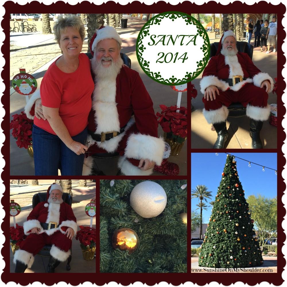 collage of Santa