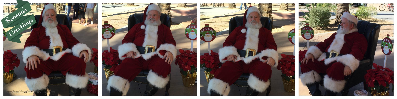 4 images of Santa Claus