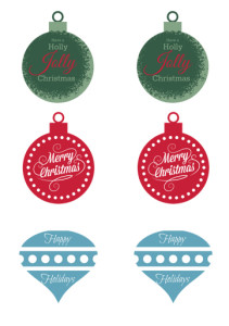 holiday tags {free printable} for all your gift giving needs