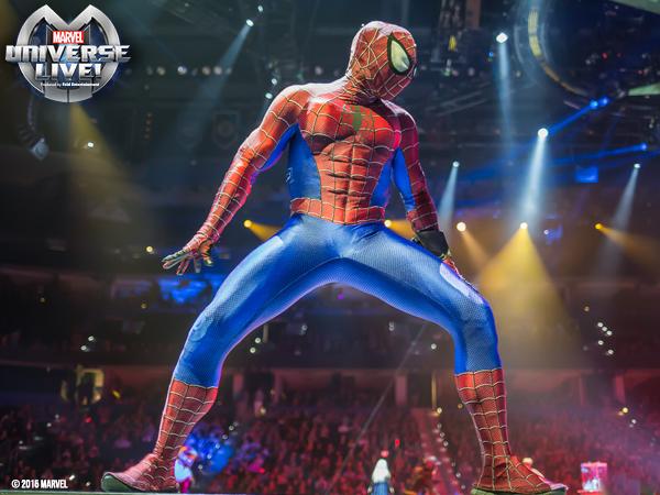 Spiderman at Marvel Universe Live