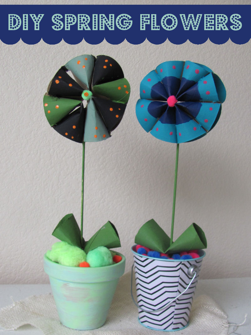 Kids will enjoy creating their own spring flowers.