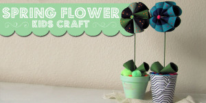 A quick and easy kids craft to make spring flowers.