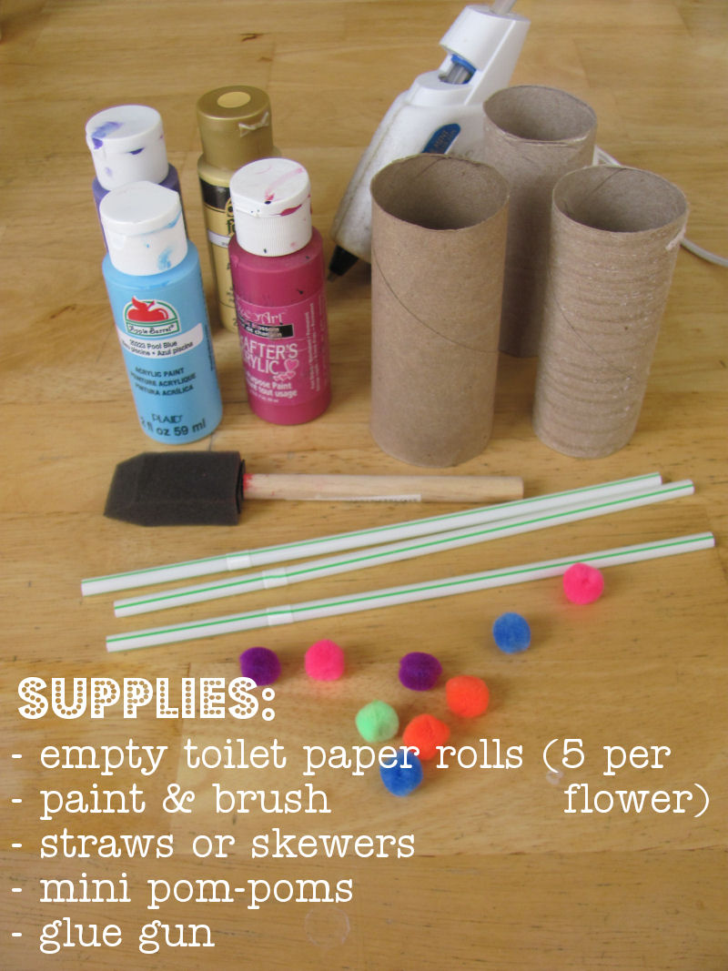 A few simple supplies will make these spring flowers.