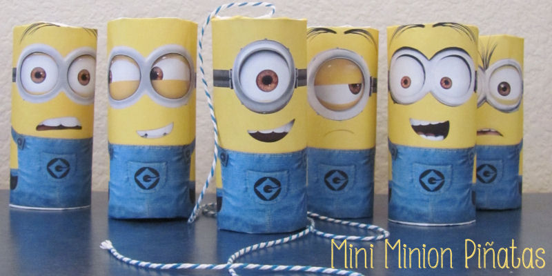 the 6 faces of mini minion pinatas