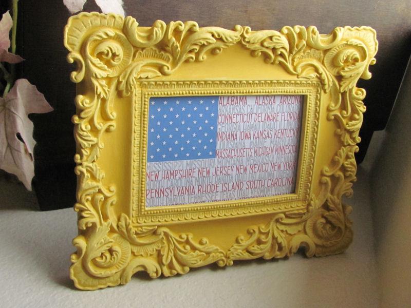 Alphabetical Sate Names American Flag
