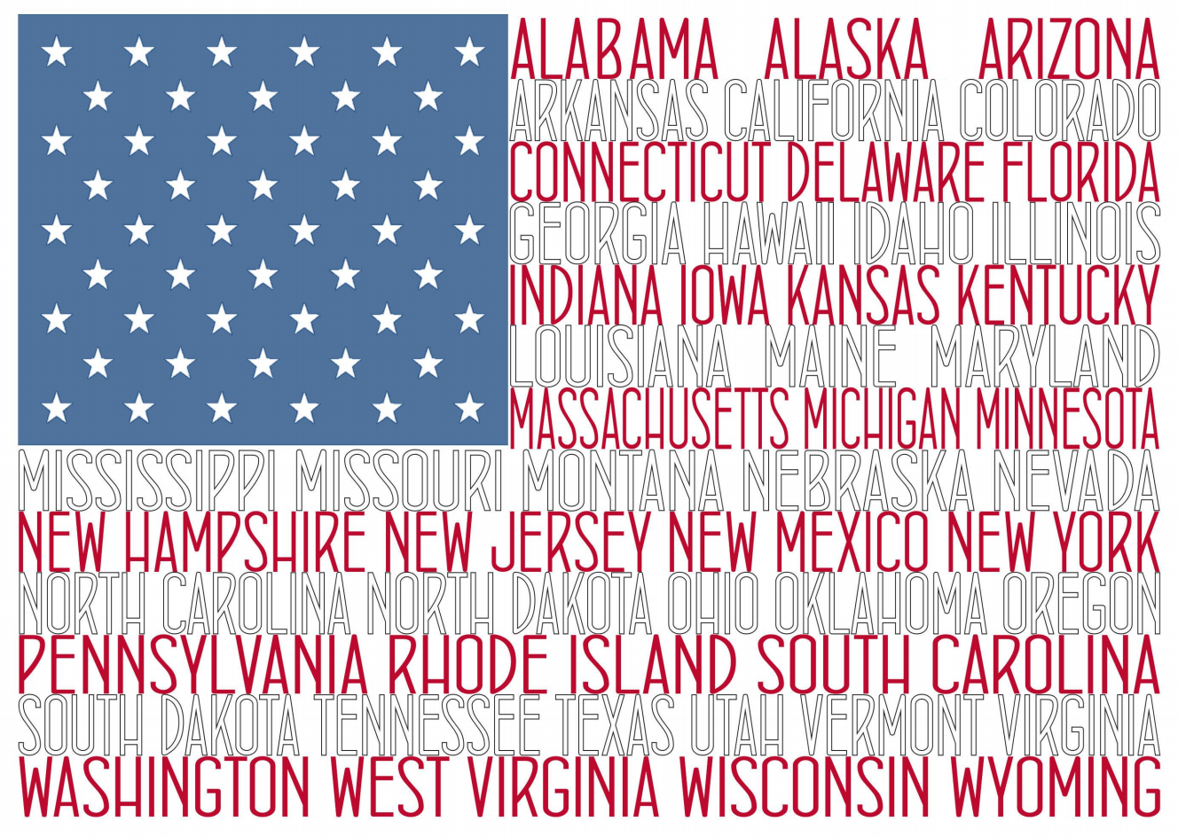 The State Names American Flag