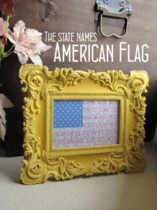 Print this American flag made from all 50 states' names.