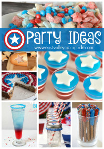 Fun and creative foods and projects for a perfect party with these Captain America Party Ideas.