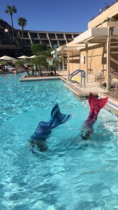 Swim like a mermaid class at the Phoenician with Aquamermaids.