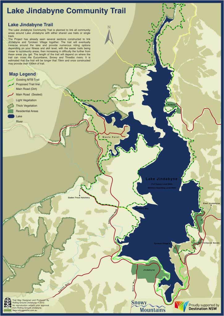 Lake Jindabyne Trail map