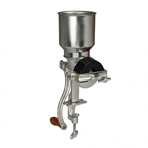Victoria Cast Iron Grain Mill  Manual Coffee Grinder, Corn Mill, Seed  Grinder with High Hopper  Table Clamp