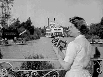 Kodak Brownie 8mm Movie Camera being used at Disneyland.