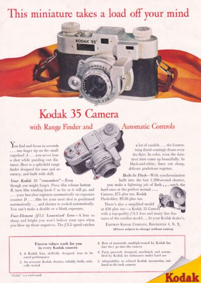 Ad for Kodak's Range Finder 35mm.