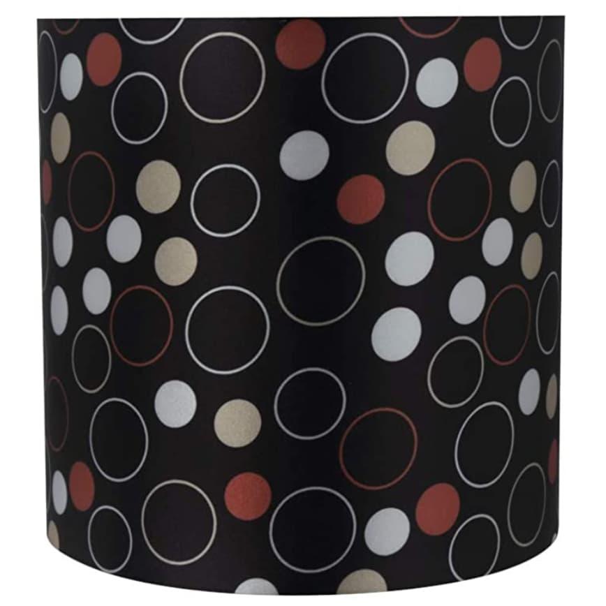 "Aspen Creative 8""x8""x8"" black, white, red lamp shade."