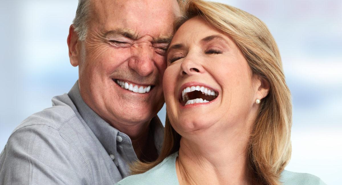 Happy smiling senior couple