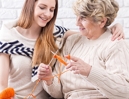 Senior receiving daily home care in Upper Marlboro, MD