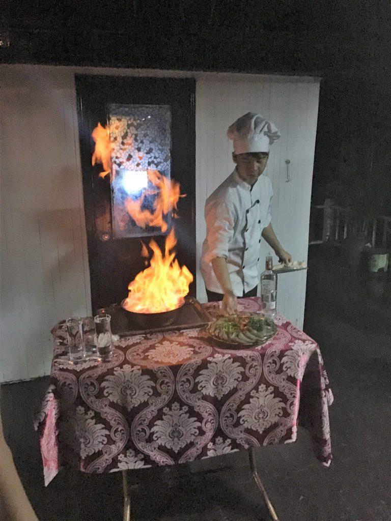 halong bay cruise, ha long bay, vietnam, cooking