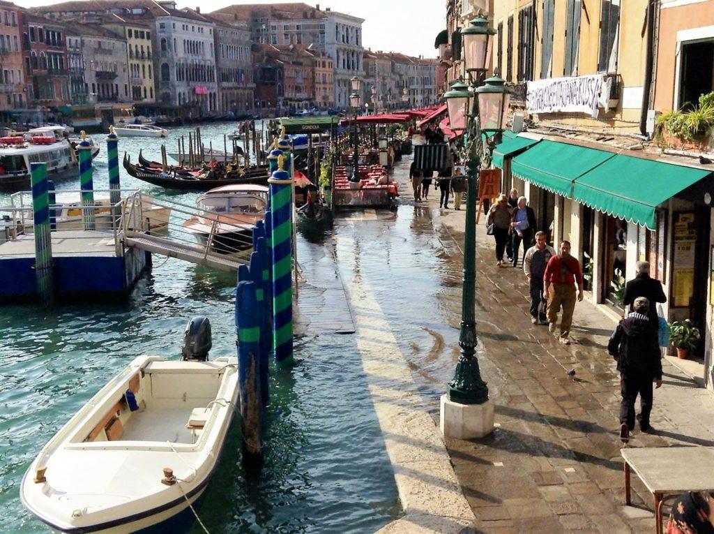 acqua alta, venice, italy, grand canal